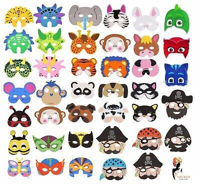 BUGS EVA FOAM MASK Fancy Dress Birthday Party Bag Filler Animal Mask Toy U41 056