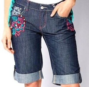 New Women/'s Joe Browns Funky Festival Denim Shorts Size UK 8