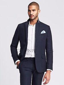 b0c41af7c364 NWT Banana Republic Men s Modern Slim Navy Linen Suit Jacket ...
