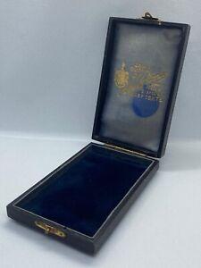 Antique Edwardian Tooled Leather Silversmith HarperGate Jewellery Box
