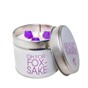 Acheter Pas Cher Oh For Fox Sake Cite De Soja Wax Candle Tin/funny Vegan Friendly Soja Bougie-afficher Le Titre D'origine Demande DéPassant L'Offre