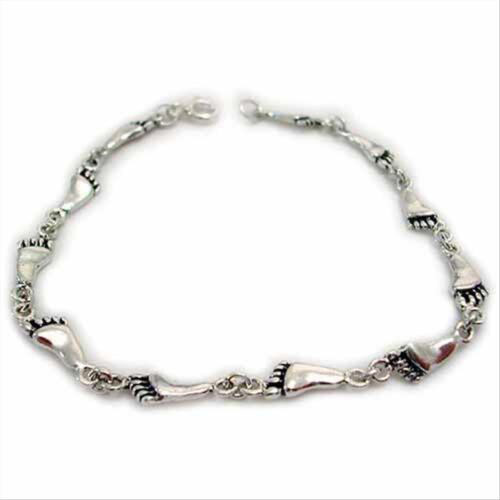 """925 Argent Empreinte Link Bracelet 7/"""""""
