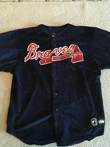 newest 0d3ad d0f9f Details about ATLANTA BRAVES VINTAGE MAJESTIC DIAMOND COLLECTION SEWN  BASEBALL JERSEY XL