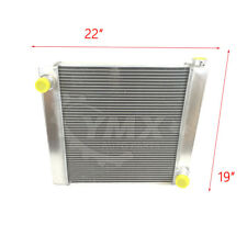 "New Universal Chevy GM 2 Row Single Pass Aluminum Radiator 22/""x 19/"" x 3/"""