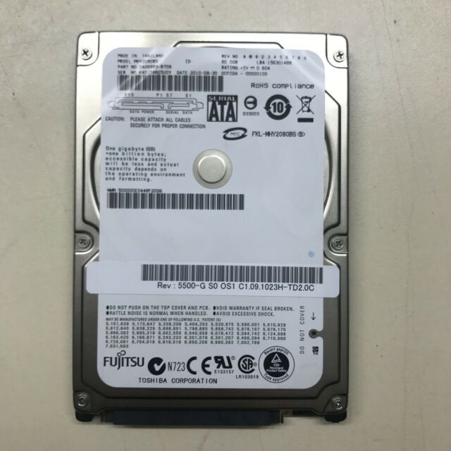 "Fujitsu MHY2080BH 80GB 80 GB 5400 RPM SATA 2,5"" HDD Laptop Hard drive laptop"