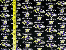 NFL  BALTIMORE RAVENS 100% COTTON FABRIC BY THE  1/4 YARD