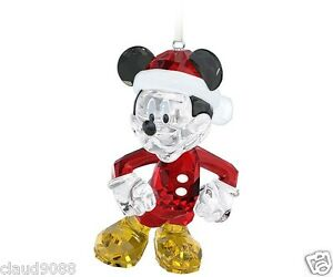 image is loading swarovski silver crystal disney mickey mouse christmas ornament