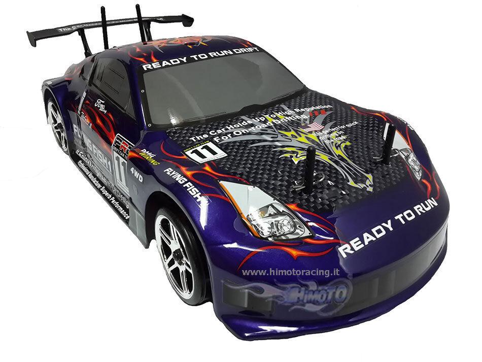 DRIFT HIMOTO 1 10 ON-ROAD RADIO 2.4GHZ 4WD RTR MOTORE ELETTRICO RC-540 HI4123