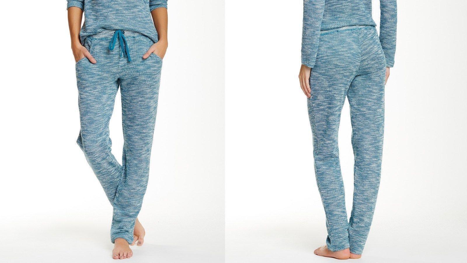 Josie by Natori Vice Versa Space-Dye Pants in Jade, Medium