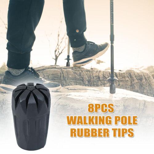 8pcs Replacement Rubber Tips End Hiking Stick Walking Trekking Poles UK
