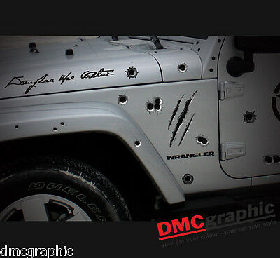 Decorative Fake Bullet Holes Funny Car Window Sticker Decal Vinyl Body Panel