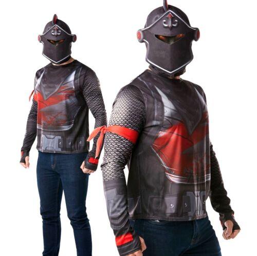 Adulte Officiel Fortnite Chevalier Noir Costume Robe Fantaisie Gaming Halloween UK