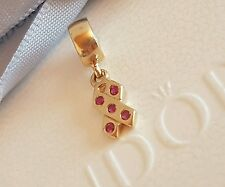 Authentic Pandora 14k 14ct Gold Breast Cancer Ribbon Charm 750342PSA - retired