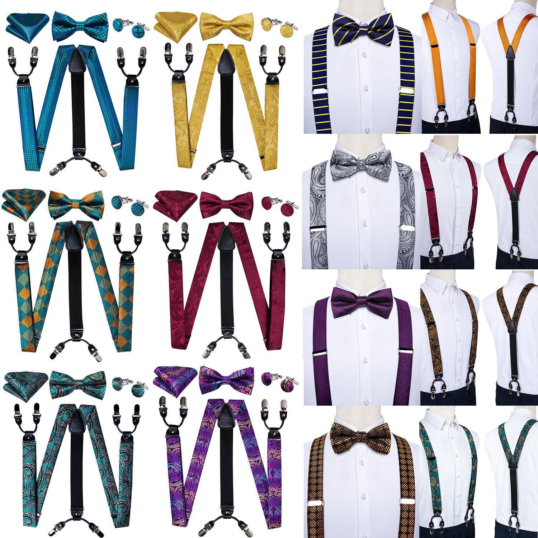 43 Colors Men Braces Y Clips Heavy Duty Elastic Adjustable Suspender Trouser Set