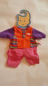 Baby-Born-Hose-mit-Oberteil-auf-Buegel-Mode-Kleidung-fuer-43-cm-Puppe-Zapf