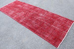 FREE-SHIPPING-Vintage-Handmade-Turkish-Overyded-Oushak-Runner-Rug-9-039-7-034-x3-039-6-034