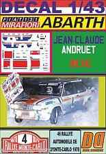 DECAL 1/43 FIAT 131 ABARTH J-C. ANDRUET R.MONTECARLO 1978 (01)