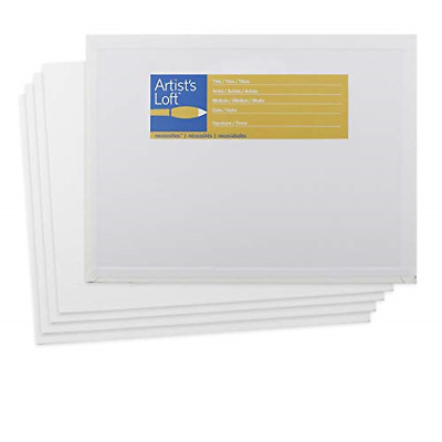 "Tara Fredrix 3721 Value Series Cut Edge T 5/"" X 7/"" Canvas Panels 25-pack"