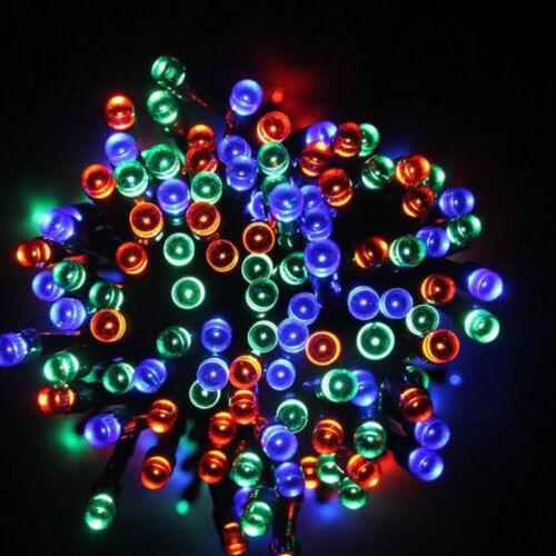 100// 200 LED Solar Lichterkette Kette Weihnachtsbaumkette Garten Party Außen