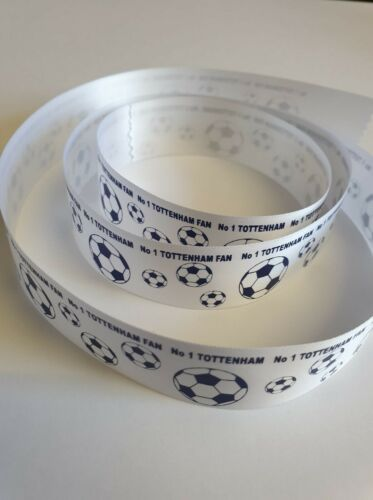 Premiership No1 Football Fan Gift Wrap or Cake Ribbon Your team Colours