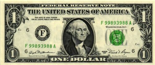 Atlanta  CH CU Fr# 1911-F A Nice 1981 $1.00 Federal Reserve Note F-A Block