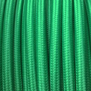 H03VV-Textilkabel-Leitung-Textilfaser-umflochten-rund-gruen-3x0-75