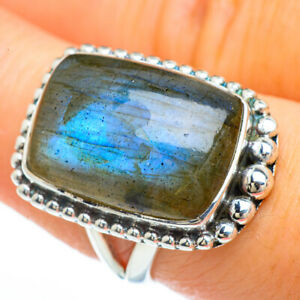 Labradorite-925-Sterling-Silver-Ring-Size-8-Ana-Co-Jewelry-R45092F