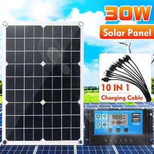30w 12v 24v Usb Solar Panel Battery Power Charger 10 20 30 40a Solar 3 Ebay