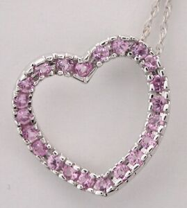 Pendant-Pink-Sapphire-Heart-with-14k-white-Gold-Chain