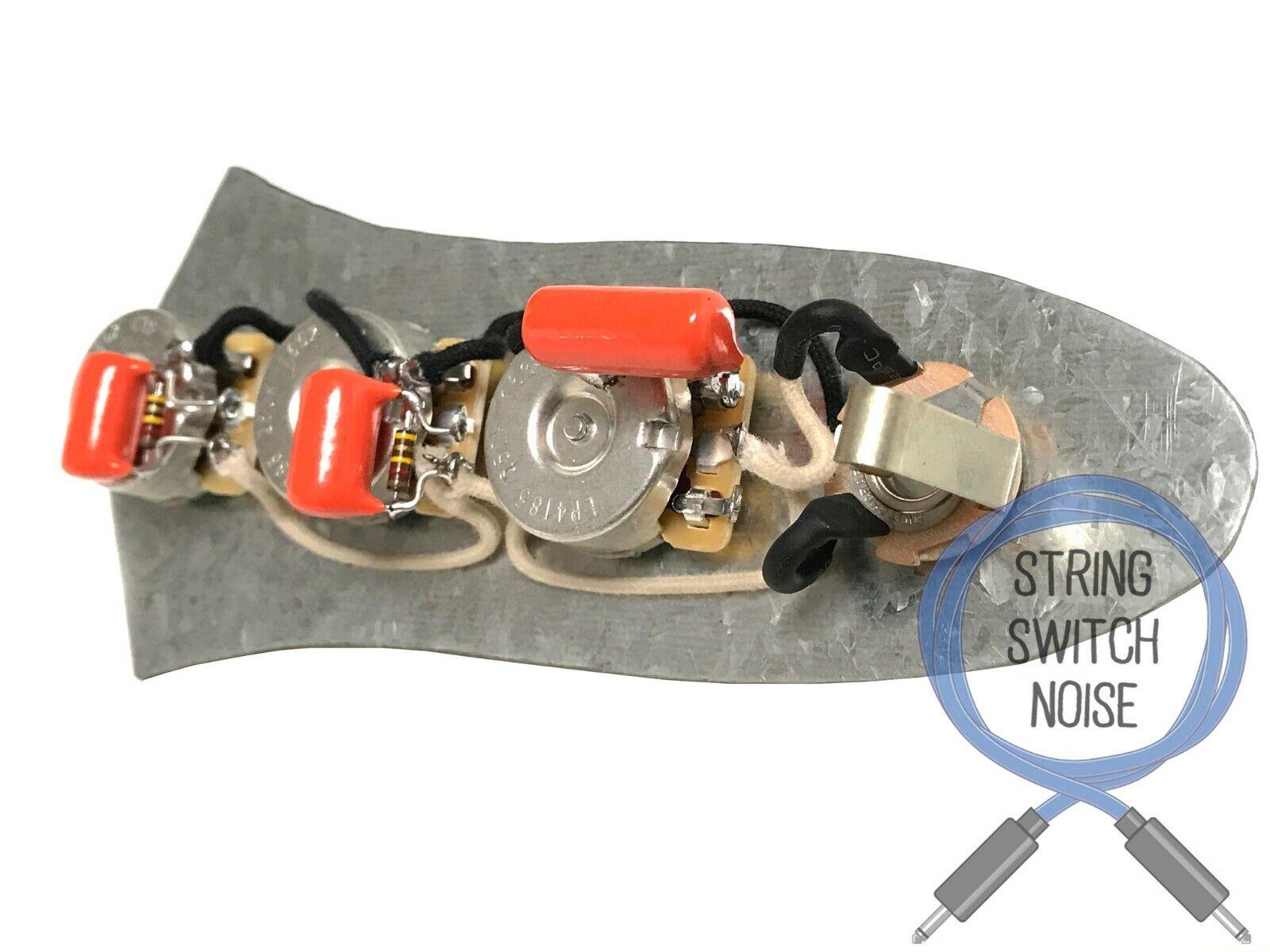 (Fender) Jazz Bass Wiring Harness, Treble Bleed, No Load Tone, Upgrade