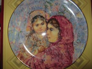 EDNA-HIBEL-plate-Lucia-and-Child-Royal-Doulton-1977