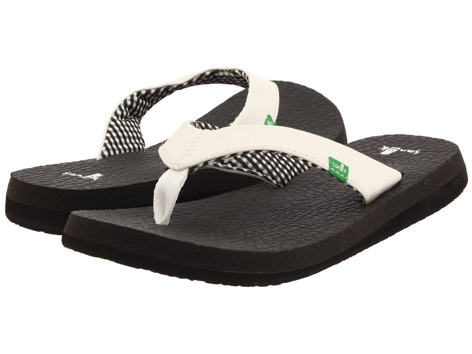 Women's Shoes Sanuk Yoga Mat Casual White Flip Flop Sandals SWS2908 White Casual *New* 502a30