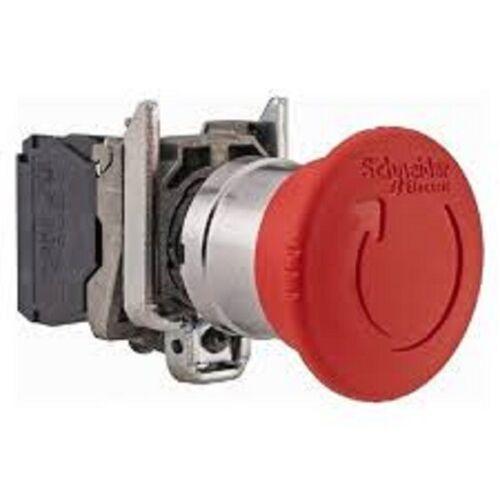 Schneider XB4 22mm em detener escotilla 1NC 40mm cabeza Giro Reset XB4BS8442