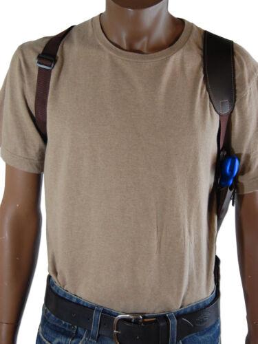 "NEW Barsony Brown Leather Vertical Shoulder Holster Rossi EAA Kimber 2/"" Snub Rev"