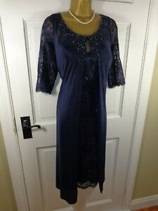 Veni-Infantino-Mother-Of-The-Bride-Navy-Blue-Lace-amp-Beaded-Outfit-18-BNWT-499