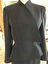 Thierry Mugler Couture Classic Gray Skirt Suit Size 38