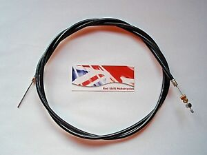"67-8521 BSA A7 M20 M21 UNIVERSAL MOTORCYCLE THROTTLE CABLE 40/"" INNER 36/"" OUTER"