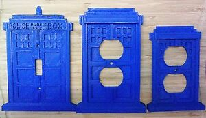Dr Who Tardis Light Switch And Outlet Covers 3d Printed Plastic