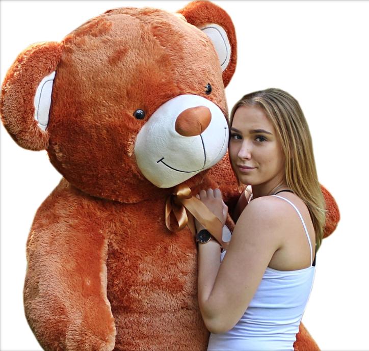 190 cm   GIANT TEDDY BEAR LARGE BIG HUGE STUFFED  braun ginger CHRISTMAS GIFT