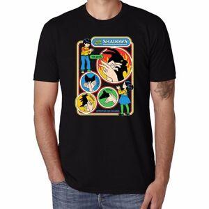 Fun-With-Shadows-Funny-Men-039-s-Ringer-t-shirt-Cotton-O-Neck-Tee-Short-Sleeve-Tops