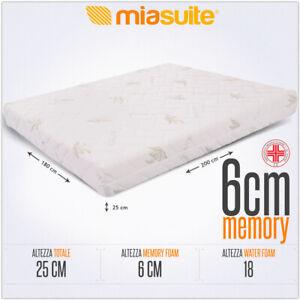 Materasso Matrimoniale 180x200.Dettagli Su Materasso Matrimoniale 180x200 Alto 25 Cm Sfoderabile Con 6 Cm Memory Premium