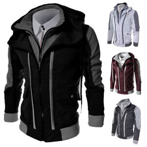 New-Men-s-Slim-Fit-Stand-Collar-Coat-Tops-Military-Jacket-Winter-Outwear-Blazer