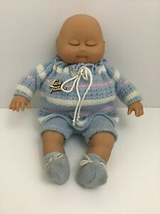 Lissi-Baby-Doll-West-Germany-Sleepy-Sleeping-12-Rubber-Soft-Body-Dimples