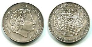 Verantwortlich 25 Gulden Niederländische Antillen 1973 Silber