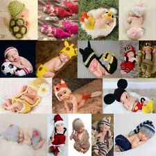 Newborn Baby Girl Boy Peacock Crochet Knit Costume Photo Photography Prop Outfit