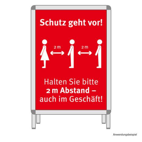 1 cartel mantener las distancias hiweis escudo din a1 comercio al por menor supermercado