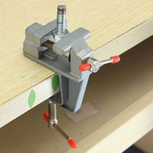 "3.5"" Mini Aluminum Small Jewelers Hobby Clamp On Table Bench Vise Tool Vice WE9X 846873885906"