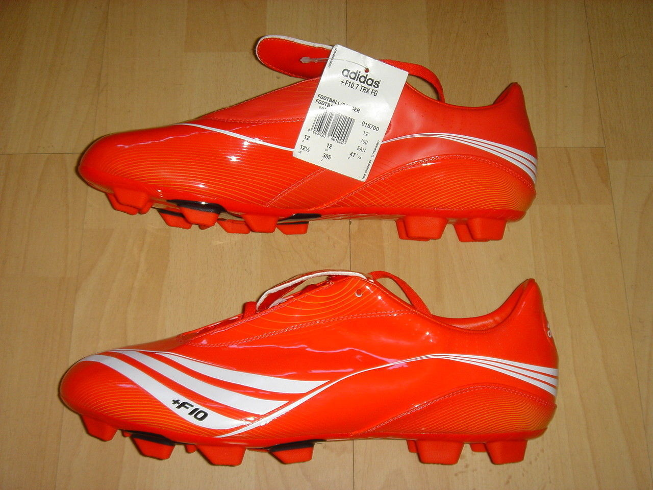 Adidas F10.7 Soccer Stiefel F 10 Football Firm Ground schuhe rot NEW