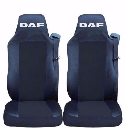 Schwarz LKW DAF Euro 6 XF 2014+ 2 x Sitzbezüge Schonbezüge Bezüge Schwarz