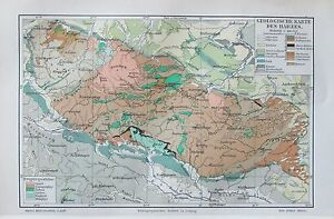 1895 Geologische Karte Des Harzes Historische Landkarte